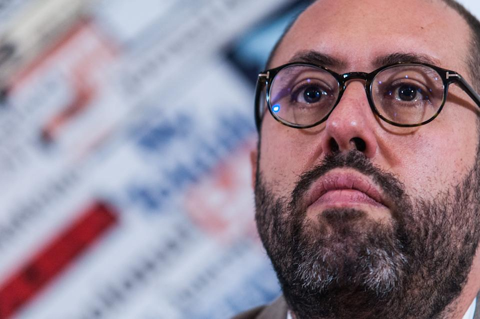 """Press conference of the regent secretary of the Democratic Party, Maurizio Martina, together with Tommaso Nannicini, present at the Foreign Press """"Forum for Italy"""", which takes place in Milan this weekend, the programmatic demonstration of the Democratic Party in view of the 2019 European electionson October 25, 2018 in Rome, Italy (Photo by Andrea Ronchini/NurPhoto via Getty Images) (Photo: NurPhoto via Getty Images)"""
