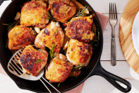 "<p>Not every recipe you make during quarantine needs to be super involved, however. An alternative to fried chicken, this 20-minute recipe is worth learning. It yields extra crispy flavor, and is thankfully easy to do.</p><p><strong><a href=""https://www.countryliving.com/food-drinks/a28942039/crispy-chicken-thighs-with-garlic-and-rosemary-recipe/"" rel=""nofollow noopener"" target=""_blank"" data-ylk=""slk:Get the recipe"" class=""link rapid-noclick-resp"">Get the recipe</a>.</strong></p>"