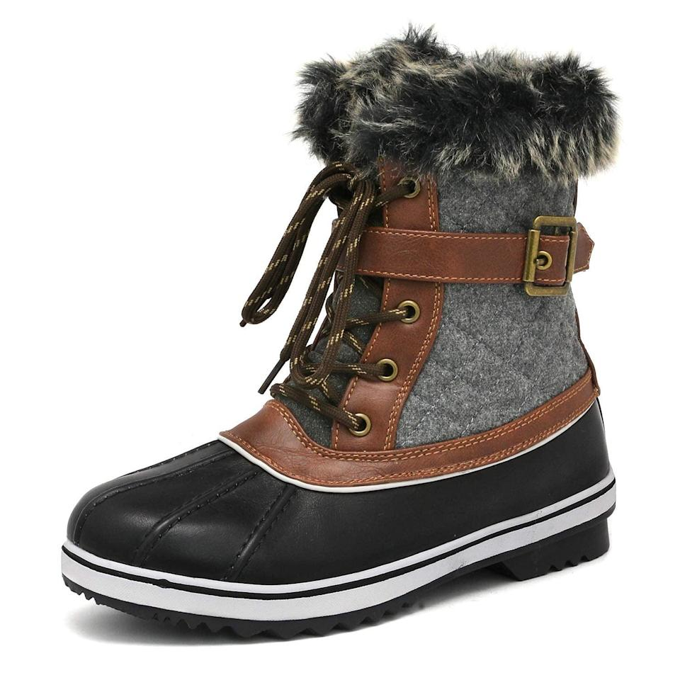<p>These <span>Dream Pairs Women's Mid Calf Winter Snow Boots</span> ($45) are so affordable, you're practically required to get them.</p>