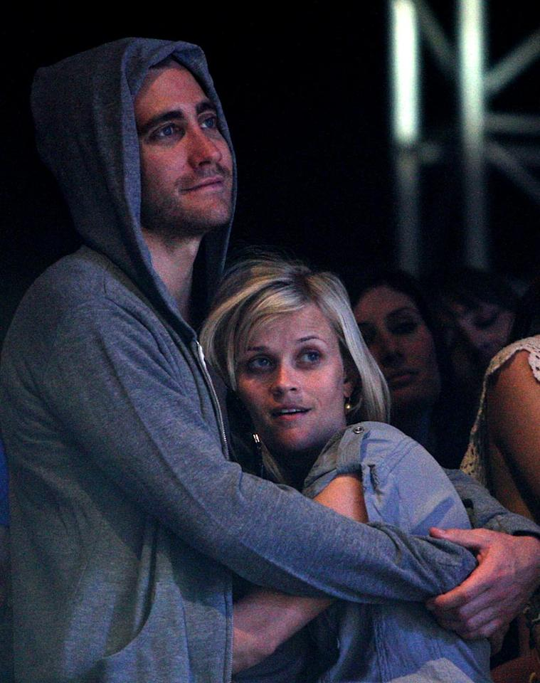 """A few short weeks ago, news broke that Jake Gyllenhaal and Reese Witherspoon amicably parted ways after three years as Hollywood's cutest couple. Rumor has it that Reese wasn't ready to commit, but we'll probably never know the real reason why they ended things. Any ideas? Frazer Harrison/<a href=""""http://www.gettyimages.com/"""" target=""""new"""">GettyImages.com</a> - April 18, 2009"""