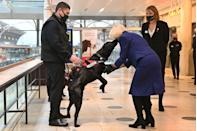 <p>The Duchess of Cornwall attended a demonstration by the charity Medical Detection Dogs to see how their dogs have been trained to detect COVID-19.</p>