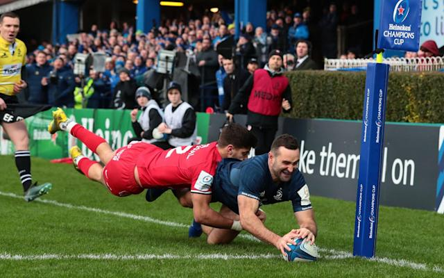 Dave Kearney latches on to Ross Byrne's cross-kick to score - PA