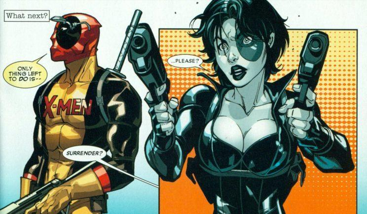 Domino looks a bit different in the comic books – Credit: Marvel