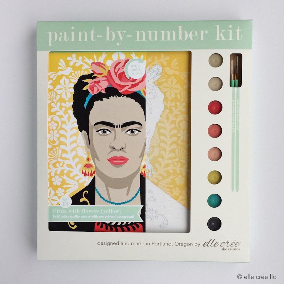 """<br><br><strong>ellecreepdx</strong> diy paint by number kit 
