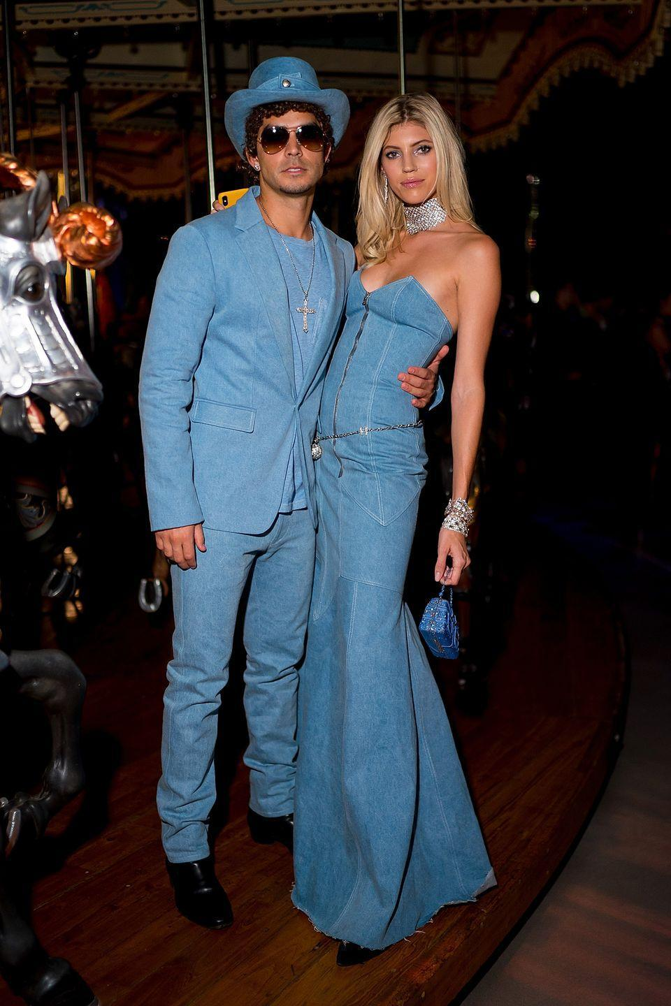 <p>The Victoria's Secret model and Jonathan Barbara took us back to the year 2001 with the iconic ensemble Britney and JT wore to the American Music Awards. </p>