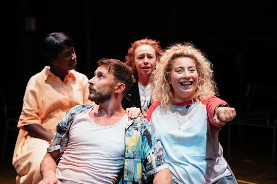 Naana Agyei-Ampadu, Peter Caulfield, Ellie Piercy and Jodie Jacobs in Last Easter by Bryony Lavery (Helen Murray)