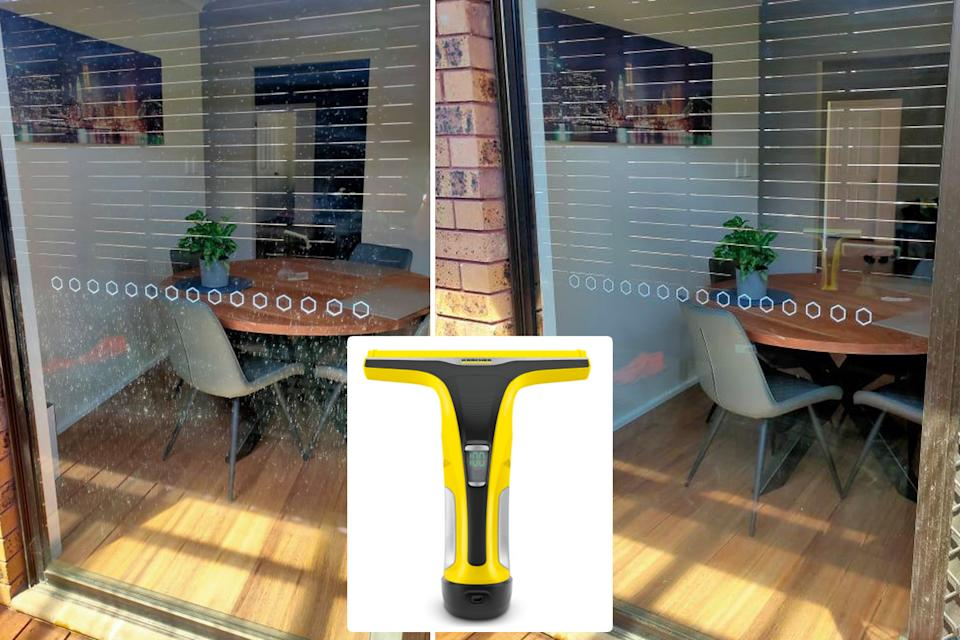 Karcher window cleaner before and after