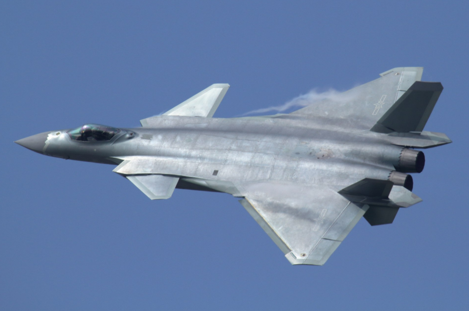"""<p>Representing China's top-of-the-line multi-role fighter, the J-20 is known as the """"Mighty Dragon."""" Along with the F-22, F-35, and Su-57, the J-20 is considered <a href=""""https://www.airforce-technology.com/projects/chengdu-j20/"""" rel=""""nofollow noopener"""" target=""""_blank"""" data-ylk=""""slk:a fifth generation jet fighter"""" class=""""link rapid-noclick-resp"""">a fifth generation jet fighter</a>—high-tech, agile, and stealthy. The fighter flies with a pair of powerful Russian-made Saturn 117S engines.</p>"""