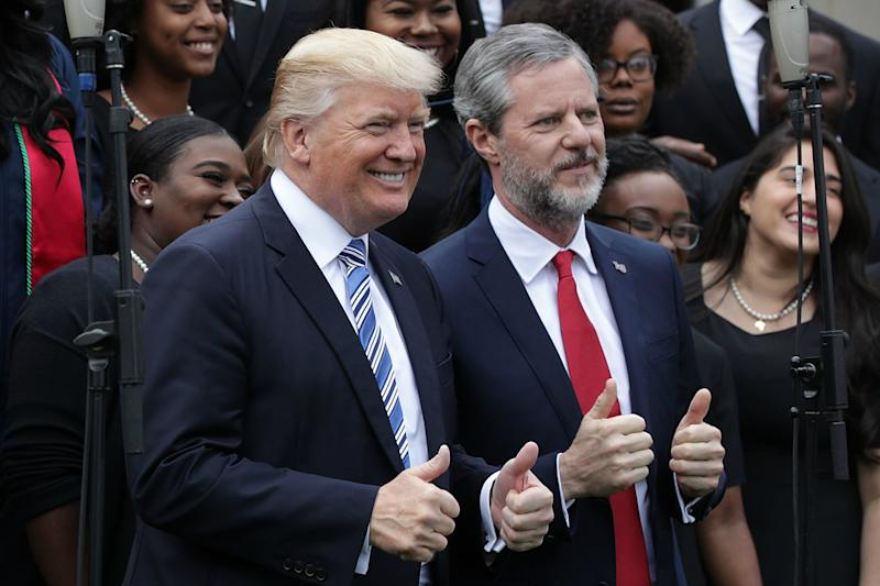 Trump and Falwell Jr.