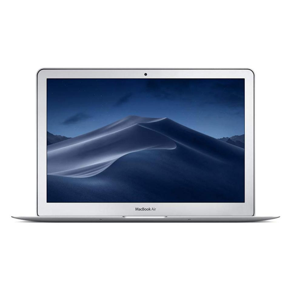 """Laptops fall into that category of tech you need but don't always <em>want</em> to buy, making them the ideal present—especially when on sale. This 13-inch MacBook Air comes with 8GB memory, 128GB SSD storage, and a cool $300 off the price tag. $999, Amazon. <a href=""""https://www.amazon.com/Apple-MacBook-1-8GHz-dual-core-Intel/dp/B07211W6X2"""">Get it now!</a>"""