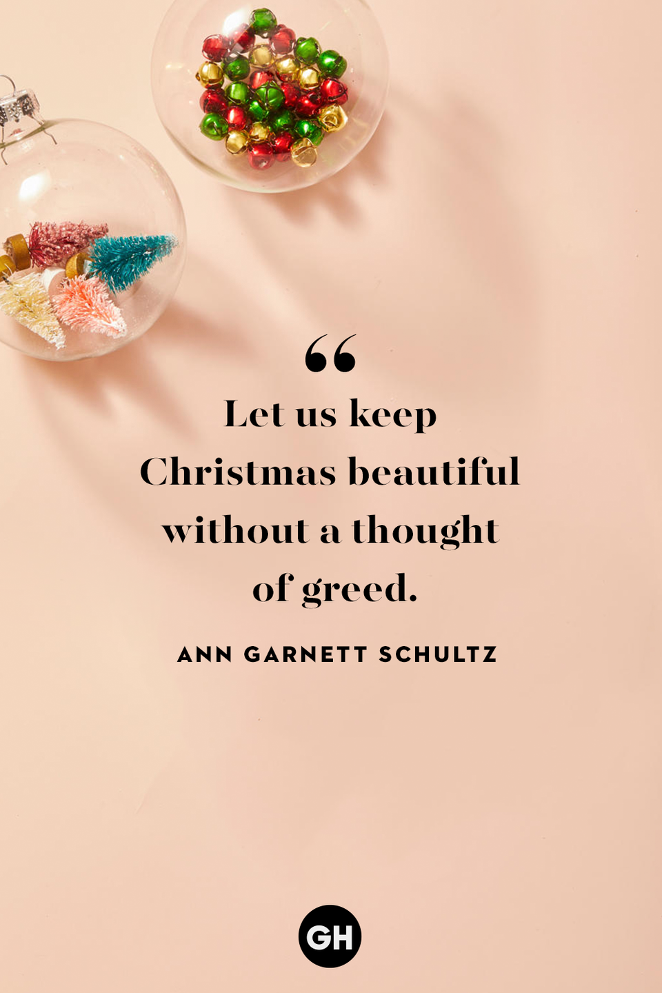 <p>Let us keep Christmas beautiful without a thought of greed. </p>