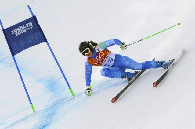 SOCHI, RUSSIA - FEBRUARY 10: (FRANCE OUT) Tina Maze of Slovenia competes during the Alpine Skiing Women's Super Combined at the Sochi 2014 Winter Olympic Games at Rosa Khutor Alpine Centre on February 10, 2014 in Sochi, Russia. (Photo by Alain Grosclaude/Agence Zoom/Getty Images)