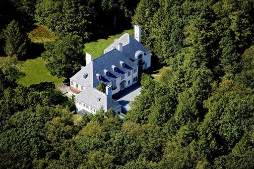 This photo provided in 2010 by Barbara Cleary's Realty Guild shows the estate of Huguette Clark in New Caanan, Conn., which had not been lived in for more than two decades since its owner became ill and ended up a recluse in a New York hospital room before dying at the age of 104. The late copper heiress' huge gifts to her staff are now in the spotlight in a New York City court fight, and an official handling the estate wants $37 million returned. (AP Photo/File)