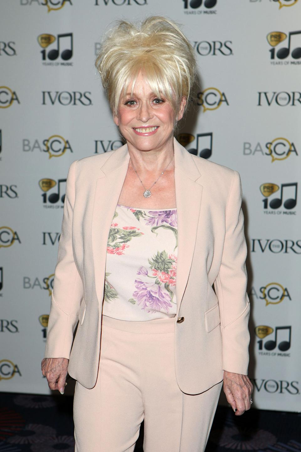 Barbara Windsor arriving for the 59th Ivor Novello Awards, at the Grosvenor House Hotel, London, on Thursday, May 22, 2014.  Photo by Mark Allan /Invision/AP)