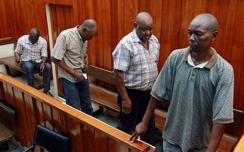 <span>The Kenyan police officers charged over his death remain on bail and the family fears they may flee before the verdict</span> <span>Credit: Joseph Okanga/Reuters </span>