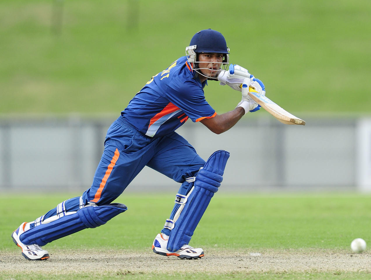 TOWNSVILLE, AUSTRALIA - APRIL 15:  Unmukt Chand of India bats during the match between Australia and India on day five of the U19 International Quad Series at Tony Ireland Stadium on April 15, 2012 in Townsville, Australia.  (Photo by Ian Hitchcock/Getty Images)