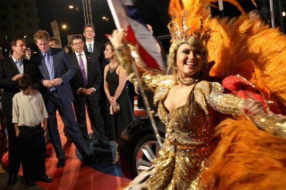 Samba and screaming girls: Prince Harry arrives in Rio to warm reception
