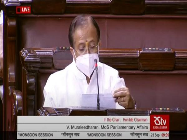 Union Minister of State for Parliamentary Affairs, V Muraleedharan in Rajya Sabha on Wednesday.