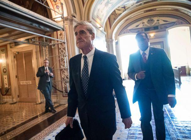 PHOTO: In this June 21, 2017, file photo, Special Counsel Robert Mueller departs after a closed-door meeting with members of the Senate Judiciary Committee about Russian meddling in the election at the Capitol in Washington. (J. Scott Applewhite/AP )