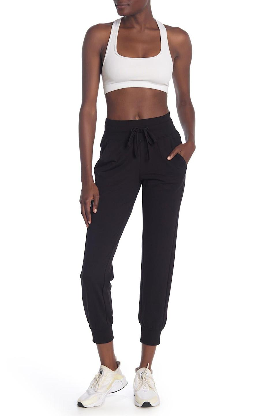 "<br><br><strong>Z By Zella</strong> Replay Slim Fleece Joggers, $, available at <a href=""https://go.skimresources.com/?id=30283X879131&url=https%3A%2F%2Fwww.nordstromrack.com%2Fs%2Fz-by-zella-replay-slim-fleece-joggers%2Fn2860687"" rel=""nofollow noopener"" target=""_blank"" data-ylk=""slk:Nordstrom Rack"" class=""link rapid-noclick-resp"">Nordstrom Rack</a>"