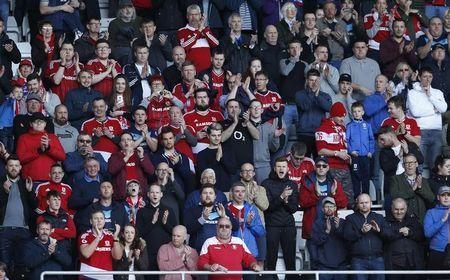 Britain Football Soccer - Swansea City v Middlesbrough - Premier League - Liberty Stadium - 2/4/17 Middlesbrough fans Action Images via Reuters / Andrew Boyers Livepic