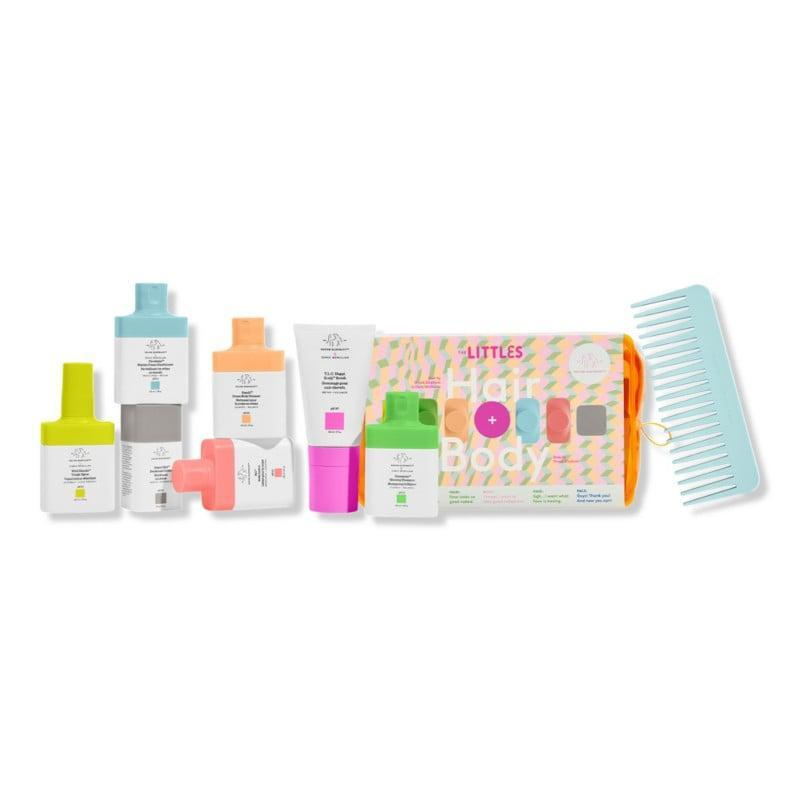 <p>The <span>Drunk Elephant The Littles Hair and Body 2.0</span> ($49) is the perfect way to try out the brand's hair-care and body-care lines. It includes deodorant, body wash and lotion, shampoo, conditioner, hair detangling spray, and even a scalp scrub and comb. Trust us, you'll want to try it too.</p>
