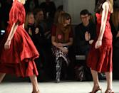<p>Even famed <em>Vogue</em> editor Anna Wintour wore the Planned Parenthood pin while front row at the Brock Collection fashion show. (Photo: Getty Images) </p>