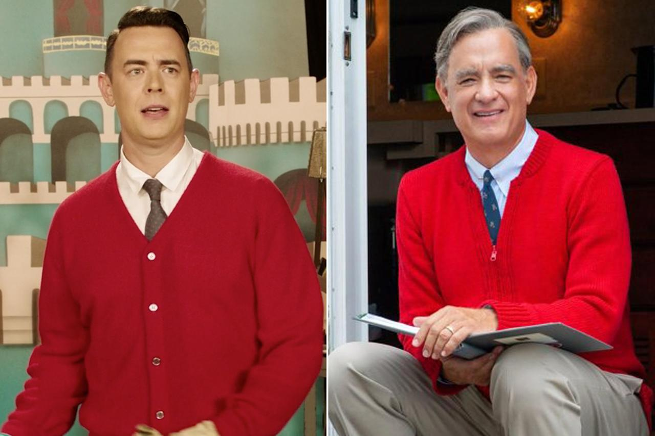 """Won't you be my ... father? Hilarity ensued when one <a href=""""https://twitter.com/ColinHanks/status/1154422237564325889"""">Twitter user noticed</a> that Tom Hanks and his son have shhared one seriously classic cardigan: The Oscar-winning star is set to play Mr. Rogers in <em><a href=""""https://people.com/movies/2019-toronto-film-festival-meryl-streep-tom-hanks-movies-announced/"""">A Beautiful Day in the Neighborhood</a>, </em>while son Colin also played the role, only on an episode of <em>Drunk History</em>."""