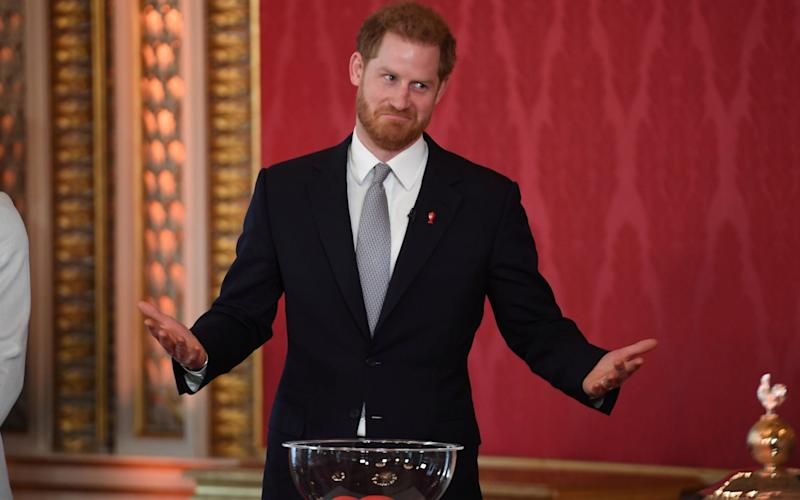 Prince Harry hosts the Rugby League World Cup draw - REUTERS
