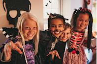 """<p>This Halloween game is perfect if you're staying home with a small group this year. Simply write <a href=""""https://www.goodhousekeeping.com/holidays/halloween-ideas/g29579568/classic-halloween-movies/"""" rel=""""nofollow noopener"""" target=""""_blank"""" data-ylk=""""slk:Halloween-related movies"""" class=""""link rapid-noclick-resp"""">Halloween-related movies</a> and phrases onto index cards and play a spooky game of Charades. </p>"""