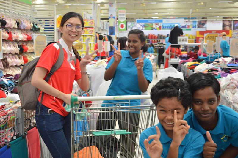 Beaming faces of children from Rumah Kebajikan Karunai Illam during their shopping trip. — Picture courtesy of Da Ma Cai