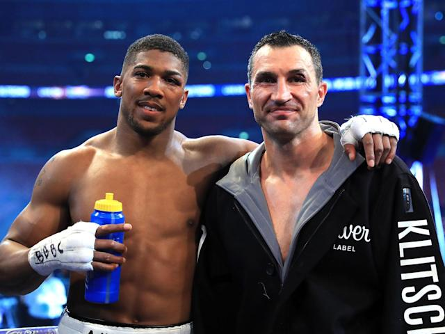 Anthony Joshua would be willing to face Wladimir Klitschko again: Getty