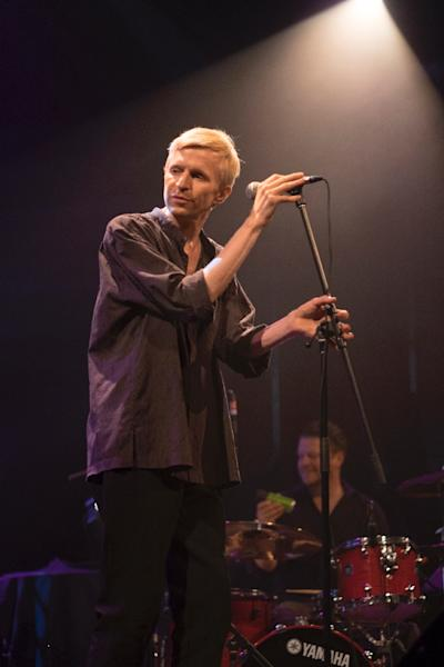 Swedish musician Jay-Jay Johanson performs on July 7, 2016 in Quebec City, Canada (AFP Photo/Florence Cassisi)