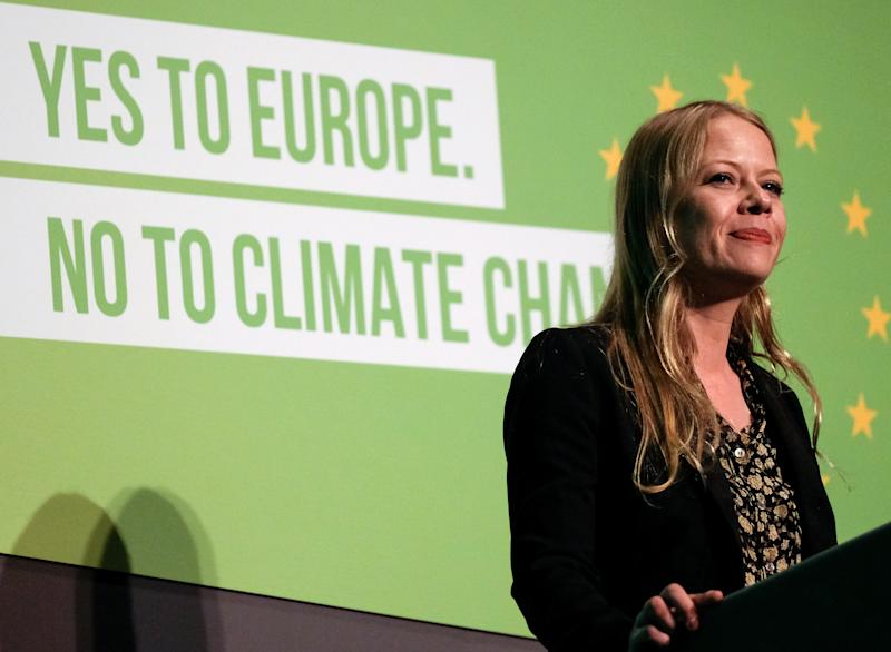 SCARBOROUGH, ENGLAND - JUNE 08: Green Party Co-Leader and Member of the London Assembly Sian Berry delivers her speech during the Green Party Spring conference held at the Scarborough Spa Complex on June 08, 2019 in Scarborough, England. Around 600 Green Party delegates from across the UK attended the conference which comes after recent success in the local elections in May where the party gained nearly 200 new councillors and saw its number of MEP's rise from three to seven. (Photo by Ian Forsyth/Getty Images)