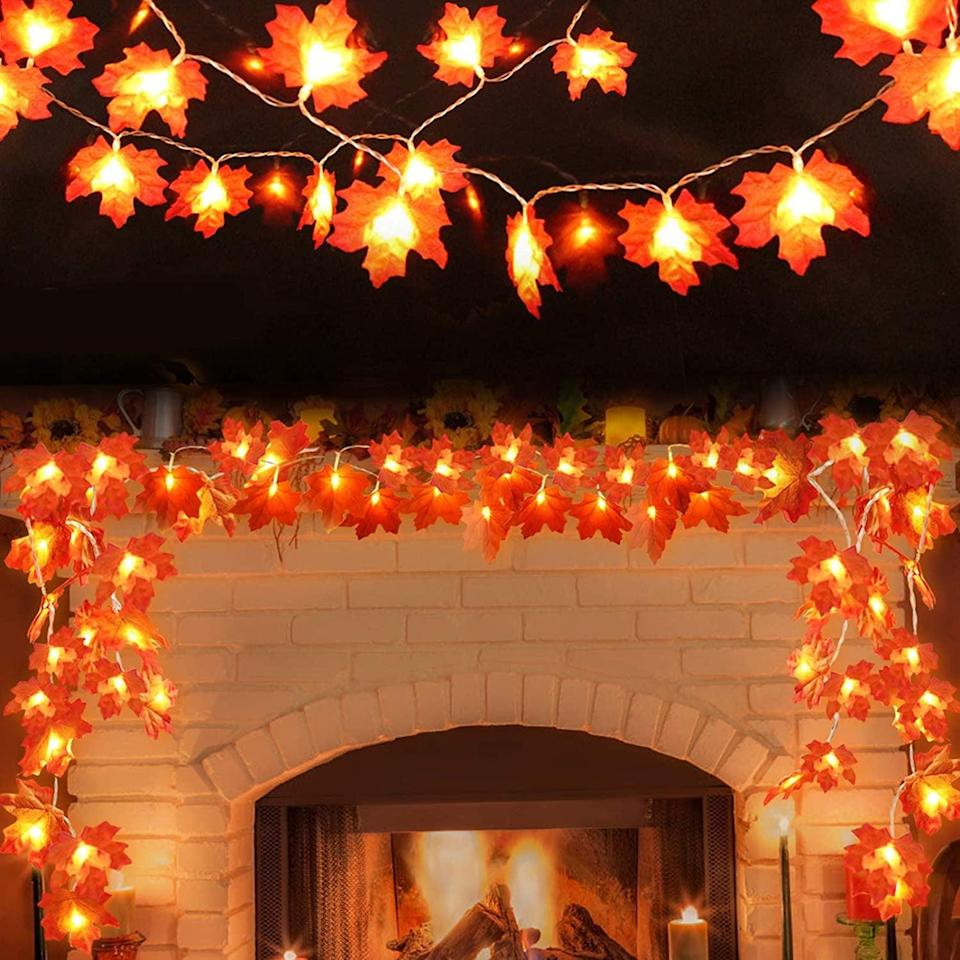 <p>Instead of any old set of fairy lights, jazz up your room with this <span>Amandir Maple Leaf Fall String Lights Garland</span> ($19) for some autumnal flair. You can have the lights stay on or have them flashing - all you need are some AAA batteries to get started.</p>