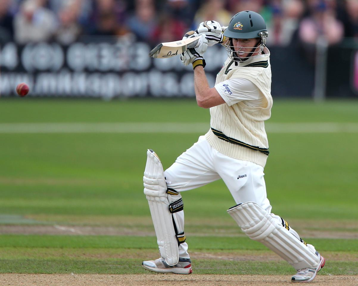 Australia batsman Chris Rogers on day one of the International Warm up match at New Road against Worcestershire, Worcester.