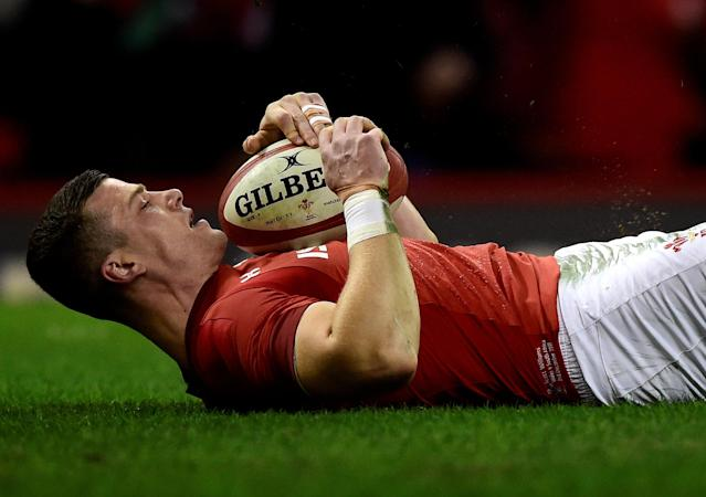 Rugby Union - Autumn Internationals - Wales vs South Africa - Principality Stadium, Cardiff, Britain - December 2, 2017 Wales' Scott Williams scores their first try REUTERS/Rebecca Naden TPX IMAGES OF THE DAY