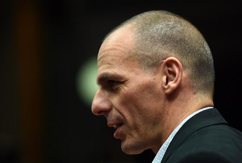 Greek Finance Minister Yanis Varoufakis warned his country risked running out of cash within two week (AFP Photo/Emmanuel Dunand)