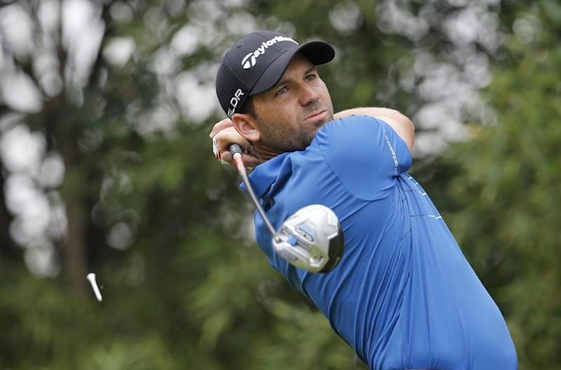 Garcia takes lead at somber Sun City
