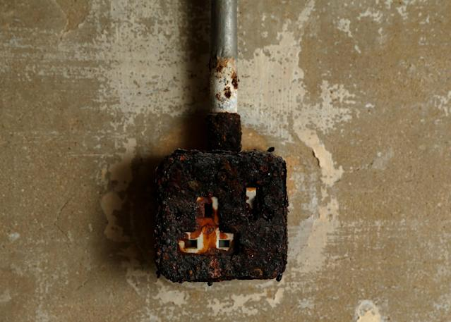 <p>A rust-covered electric socket is seen at the NATO tunnels dating back to the Cold War in the War Headquarters tunnels beneath Valletta, Malta, March 28, 2017. (Photo: Darrin Zammit Lupi/Reuters) </p>