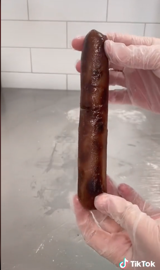 Sausage made out of cake