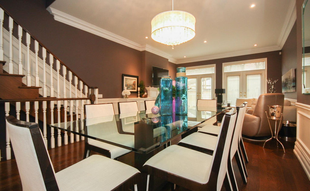 <p>The dining room is open concept, allowing free access from the living area. (Royal LePage/BizzImage) </p>