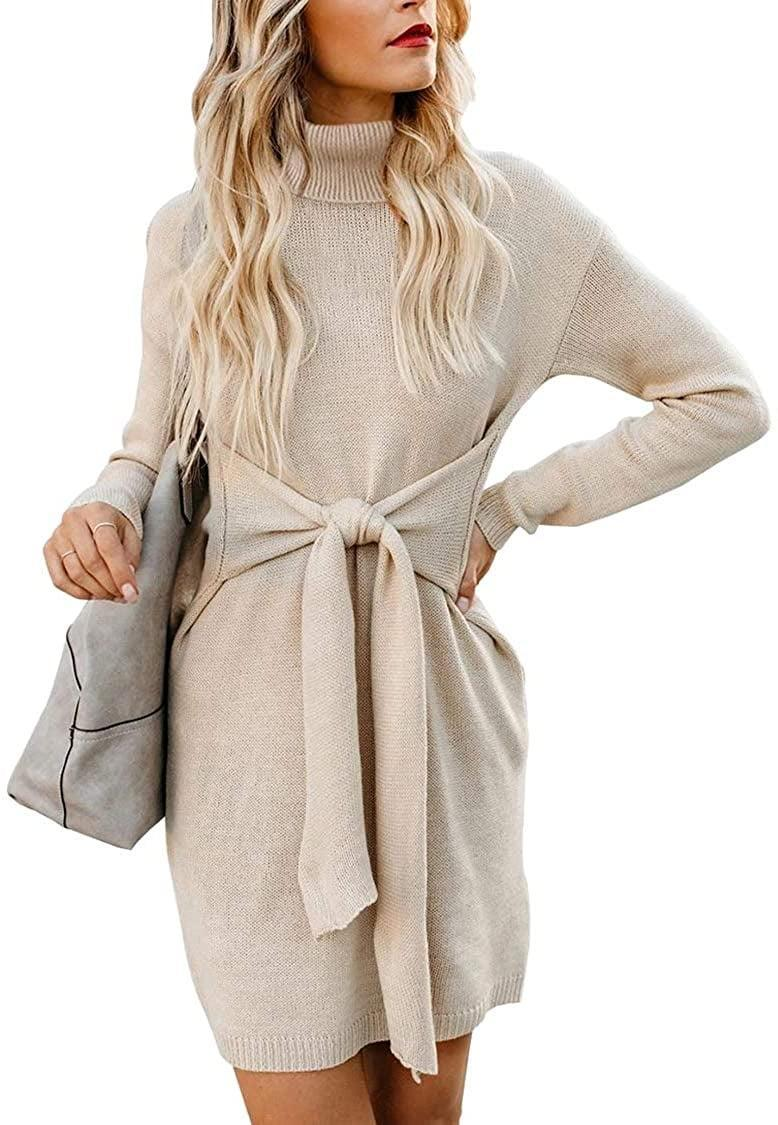 <p>Stay warm in this <span>Casual Turtleneck Sweater Dress</span> ($38).</p>
