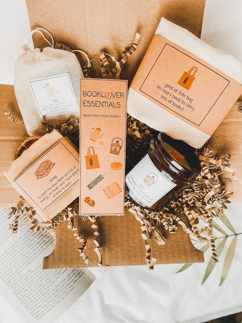 <p>This eco-friendly <span>Book-Lover Box</span> ($24) comes with a candle, green tea, a soap bar, a cotton bag, and a bookmark. Just add a book!</p>