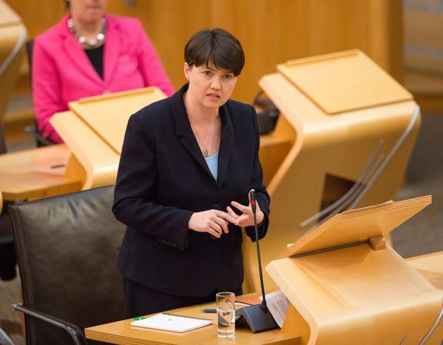 Ruth Davidson in Holyrood