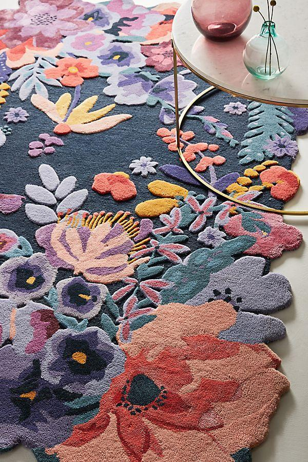 """<h3><a href=""""https://www.anthropologie.com/rugs-curtains"""" rel=""""nofollow noopener"""" target=""""_blank"""" data-ylk=""""slk:Anthropologie"""" class=""""link rapid-noclick-resp"""">Anthropologie</a></h3> <br><strong>Good for:</strong> Distinctive options, internationally-inspired designs, feminine-quirky patterns, and florals.<strong><br><br>What to love:<br><br></strong> We've found that our readers are huge fans of Anthropologie and its eclectic stock of delightful dresses, accessories, and home decor. So it's no surprise that their """"Rugs & Curtains"""" section boasts everything from doormats and floral numbers to Persian- and Moroccan-style designs.<br><br><strong>Anthropologie</strong> Tufted Jardin Rug, $, available at <a href=""""https://go.skimresources.com/?id=30283X879131&url=https%3A%2F%2Fwww.anthropologie.com%2Fshop%2Ftufted-jardin-rug%3Fcolor%3D041"""" rel=""""nofollow noopener"""" target=""""_blank"""" data-ylk=""""slk:Anthropologie"""" class=""""link rapid-noclick-resp"""">Anthropologie</a><br>"""