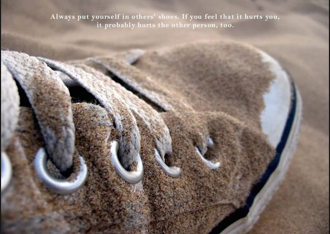 Put Yourself in other's shoe. Image Credit: Quotesvalley