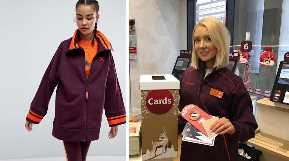 This Puma design is being mocked for looking like the Sainsbury's uniform [Photo: ASOS/Instagram]