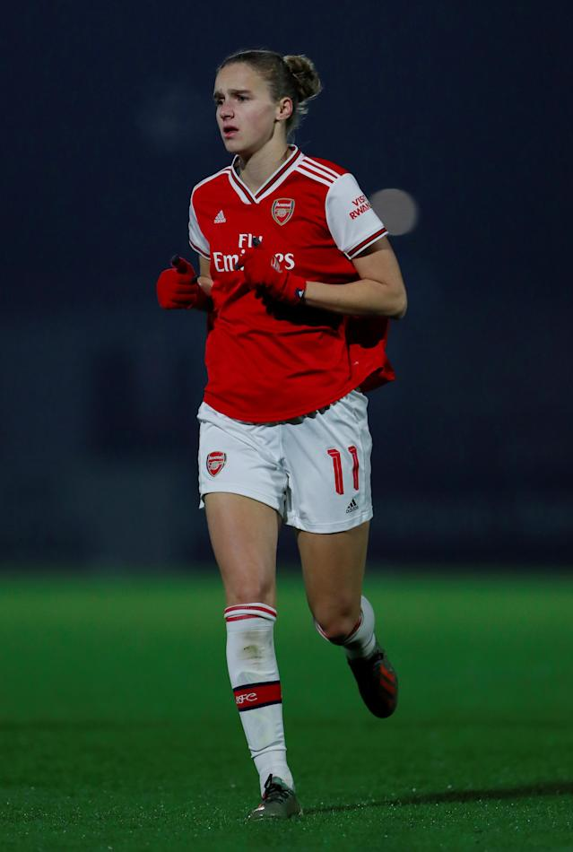 Arsenal's Vivianne Miedema scored against Manchester City in the Conti Cup semi-final