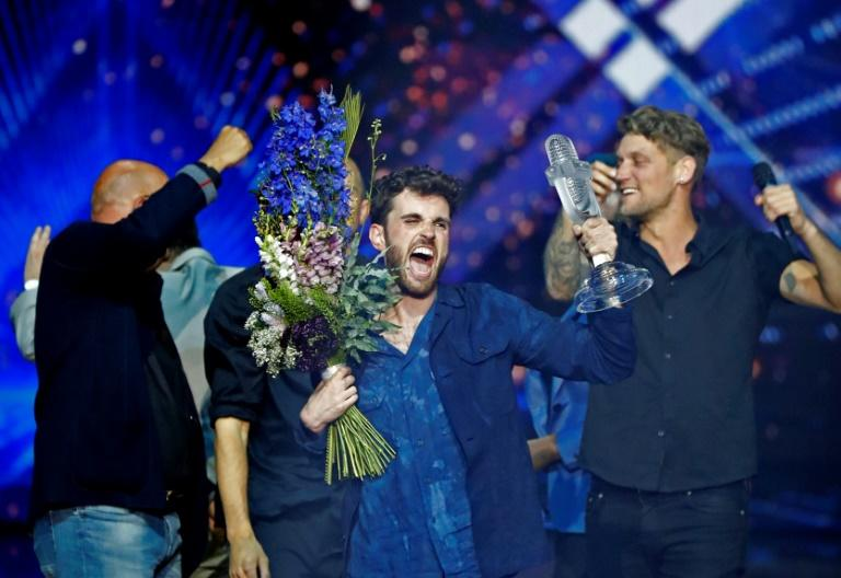 "The Netherlands' Duncan Laurence won the 2019 Eurovision song contest with his stirring power ballad ""Arcade"""